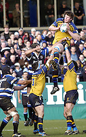 2004/05 Heineken_Cup,Bath Rugby_vs_Leinster,Bath,North Somerset, ENGLAND:.Malcom O'Kelly collects the line out ball..Photo  Peter Spurrier. .email images@intersport-images.com...