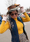 SHAO LING YU, of Oakland Gardens, shows off her Easter Bonnet atthe 58th Annual Easter Sunday Vintage Car Parade and Show sponsored by the Garden City Chamber of Commerce. Hundreds of authentic old motorcars, 1898-1988, including antiques, classic, and special interest participated in the parade.
