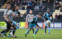 Max Kretzschmar of Wycombe Wanderers leads the chase for the ball during the Sky Bet League 2 match between Notts County and Wycombe Wanderers at Meadow Lane, Nottingham, England on 28 March 2016. Photo by Andy Rowland.