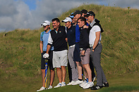Ronan Mullarney (Galway) winner of the AIG Irish Amateur Close Championship 2019 with some of his Galway friends in Ballybunion Golf Club, Ballybunion, Co. Kerry on Wednesday 7th August 2019.<br /> <br /> Picture:  Thos Caffrey / www.golffile.ie<br /> <br /> All photos usage must carry mandatory copyright credit (© Golffile | Thos Caffrey)
