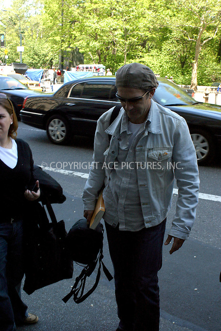 WWW.ACEPIXS.COM . . . . . ***EXCLUSIVE!!! FEE MUST BE NEGOTIATED BEFORE USE!!!***....NEW YORK, NEW YORK, MAY 17TH 2005....Antonio Banderas entering his midtown hotel....Please byline: PAUL CUNNINGHAM - ACE PICTURES..... *** ***..Ace Pictures, Inc:  ..Craig Ashby (212) 243-8787..e-mail: picturedesk@acepixs.com..web: http://www.acepixs.com