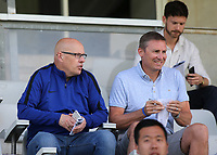 Former Leeds Manager, Brian McDermott sat in the main stand alongside Andy Scott, who is currently the UK Football Recruitment Director at Watford FC during South Korea Under-21 vs Scotland Under-21, Tournoi Maurice Revello Football at Stade Parsemain on 2nd June 2018