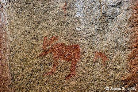 Pictograph on a rock.