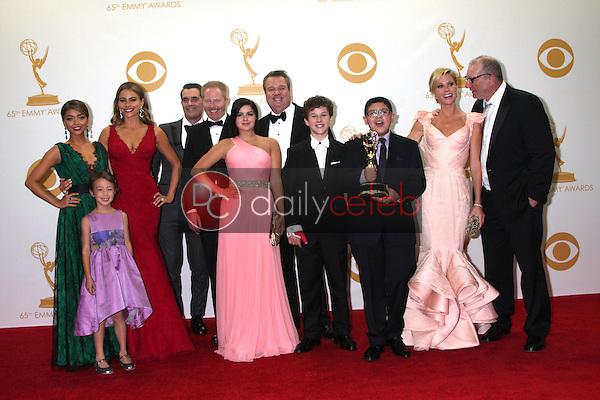 Modern Family<br /> at the 65th Annual Primetime Emmy Awards Press Room, Nokia Theater, Los Angeles, CA 09-22-13<br /> David Edwards/DailyCeleb.Com 818-249-4998