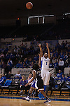 Senior guard, A'dia Mathies, shooting a three point shot during the first half of the UK vs. High Point basketball game at Memorial Coliseum on Saturday, Nov. 17, 2012. Photo by Adam Chaffins | Staff