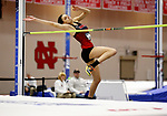 NAPERVILLE, IL - MARCH 11: Cirrus Robinson of Ohio Wesleyan goes over the bar in the High Jump at the Division III Men's and Women's Indoor Track and Field Championship held at the Res/Rec Center on the North Central College campus on March 11, 2017 in Naperville, Illinois. (Photo by Steve Woltmann/NCAA Photos via Getty Images)