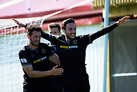Tom Jackson celebrates scoring the winner during the ISPS Handa Premiership football match between Team Wellington and Tasman United at David Farrington Park in Wellington, New Zealand on Sunday, 12 November 2017. Photo: Dave Lintott / lintottphoto.co.nz