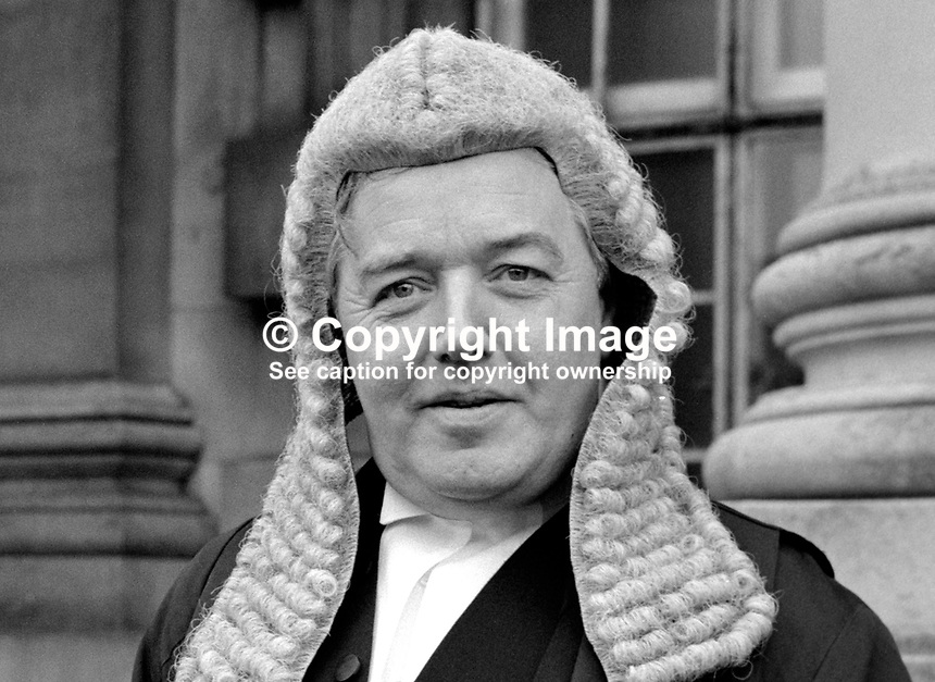 Patrick MacEntee, senior barrister, state counsel, Rep of Ireland, Queen's Counsel, UK, 19850017PME2.<br />