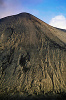 Ash plain on one side of Mount Yasur, an active volcano on the island of Tanna, Vanuatu.