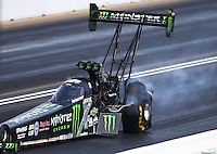 May 22, 2016; Topeka, KS, USA; NHRA top fuel driver Brittany Force during the Kansas Nationals at Heartland Park Topeka. Mandatory Credit: Mark J. Rebilas-USA TODAY Sports