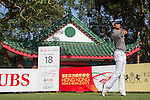 Pavit Tangkamolprasert of Thailand tees off the 18th hole during the 58th UBS Hong Kong Golf Open as part of the European Tour on 09 December 2016, at the Hong Kong Golf Club, Fanling, Hong Kong, China. Photo by Vivek Prakash / Power Sport Images