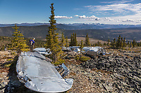 Plane wreck in the Yukon Charley Rivers National Preserve, Alaska