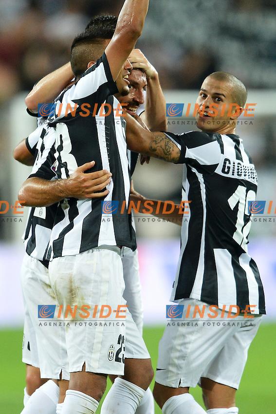 """Esultanza di Andrea Prilo dopo il gol.Goal celebration.Torino 25/8/2012 """"Juventus"""" stadium.Football Calcio 2012/2013 Serie A.Juventus Vs Parma.Foto Andrea Staccioli Insidefoto"""