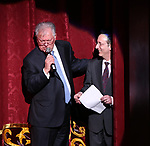 Robert E. Wankel and Phil Weinberg on stage during The Fourth Annual High School Theatre Festival at The Shubert Theatre on March 19, 2018 in New York City.
