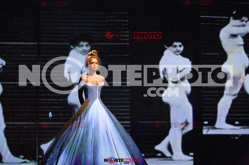 News_Pictures. PARIS, FRANCE - JULY 04: A model walks the runway during the Frank Sorbier Haute-Couture Show as part of Paris Fashion Week Fall / Winter 2013 at Theatre Antoine on July 4, 2012 in Paris, France.  .. / Mediapunchinc