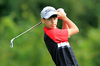 Luke Power (Galway) on the 1st tee during the Connacht U12, U14, U16, U18 Close Finals 2019 in Mountbellew Golf Club, Mountbellew, Co. Galway on Monday 12th August 2019.<br /> <br /> Picture:  Thos Caffrey / www.golffile.ie<br /> <br /> All photos usage must carry mandatory copyright credit (© Golffile | Thos Caffrey)
