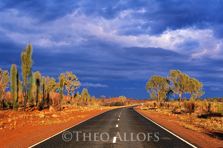 Northern Territory, Australia --- Storm Clouds over Lasseter Highway