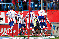 Players Atletico Madrid celebrating goal