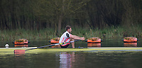 Caversham. Berkshire. UK<br /> Leander's Tom BARRAS on his run at the 2016 GBRowing U23 Trials at the GBRowing Training base near Reading, Berkshire.<br /> <br /> Monday  11/04/2016 <br /> <br /> [Mandatory Credit; Peter SPURRIER/Intersport-images]