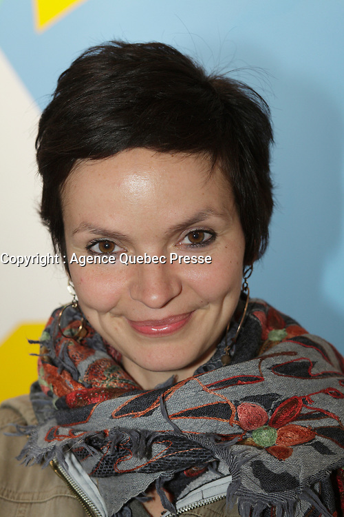 April 17, 2013 - Montreal, Quebec,  CANADA -  Anaïs Barbeau-Lavalette attend a retrospective of her grandfather Marcel  Barbeau paintings at Michel-Ange gallery in Old-Montreal<br />  Barbeau is the last remaining member of Les Automatistes (group of painters from Quebec).<br /> <br /> Anaïs Barbeau-Lavalette (born 1979) is a Canadian actress, film director and screenwriter from Quebec. The daughter of documentary filmmaker Manon Barbeau and cinematographer Philippe Lavalette and the granddaughter of artist Marcel Barbeau,[1] she is best known to international audiences for her award-winning 2012 film Inch'Allah.[2]<br /> <br /> Originally prominent as a child actor, her credits included the series Le Club des 100 Watts and À nous deux!. She later began making documentary films, including Les Petits princes des bidonvilles (2000), Buenos Aires, no llores (2001)[1] and Si j'avais un chapeau (2005),[2] before releasing her first feature film, The Ring, in 2007.[2] She later made the documentary films Les petits géants (2009) and Se souvenir des cendres (2010) before releasing Inch'Allah.[1] Se souvenir des cendres, a documentary about the making of Denis Villeneuve's 2010 film Incendies, won the Prix Gémeaux for Best Cultural Documentary in 2011.<br /> <br /> She also published Je voudrais qu'on m'efface in 2010, a novel which revolves around some of the same characters as The Ring.[1]<br /> <br /> An outspoken peace, human rights and international development activist, Barbeau-Lavalette was named artist of the year for 2012 by Les Artistes pour la paix, a Montreal-based organization that honours works of art involving themes of peace, in February 2013.[1] In the same month, Inch'Allah was awarded the FIPRESCI Prize for the Panorama section of the 2013 Berlin International Film Festival.[3]