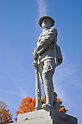 Memorial to soldiers & sailors of Stoddard. Located at the Stoddard Congregational Church during the autumn months. Located in Stoddard, New Hampshire USA