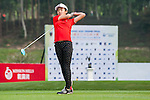 Yu Lin Chen of China tees off at tee one during the 9th Faldo Series Asia Grand Final 2014 golf tournament on March 18, 2015 at Faldo course in Mid Valley clubhouse in Shenzhen, China. Photo by Xaume Olleros / Power Sport Images