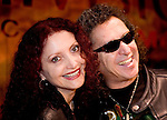 Mexican rock star legend Alex Lora and his wife Chela pose for photographers during a press conference to announce a music tour to South America, September 4, 2006.   © Photo by Javier Rodriguez