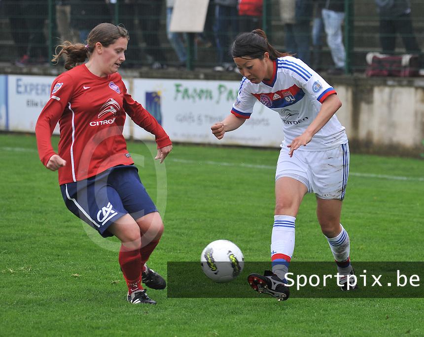 1/2 finale Coupe De France in Arras , stade Degouve : Arras - Olympique Lyonnais Lyon :  Ami Otaki.foto JOKE VUYLSTEKE / Vrouwenteam.be