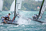 United KingdomSirena SL16OpenCrewGBRJK8JamesKing<br /> United KingdomSirena SL16OpenHelmGBRJB204jackButters<br /> Day3, 2015 Youth Sailing World Championships,<br /> Langkawi, Malaysia