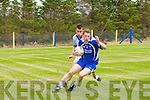 Sean Connor (Renard) in action with Luke Lynch (St Senans) in the County League Div 5 round 7 at St Senans GAA Grounds, Mountcoal, on Sunday.