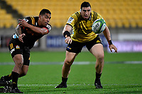 Chiefs&rsquo; Jonathan Taumateine in action during the Super Rugby - Hurricanes v Chiefs at Westpac Stadium, Wellington, New Zealand on Saturday  27 April 2019. <br /> Photo by Masanori Udagawa. <br /> www.photowellington.photoshelter.com