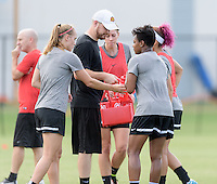 Houston, TX - Thursday Oct. 06, 2016: Western New York Flash  during training prior to the National Women's Soccer League (NWSL) Championship match between the Washington Spirit and the Western New York Flash at BBVA Compass Stadium.