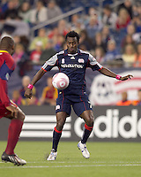 New England Revolution midfielder Kenny Mansally (7) traps the ball. Real Salt Lake defeated the New England Revolution, 2-1, at Gillette Stadium on October 2, 2010.