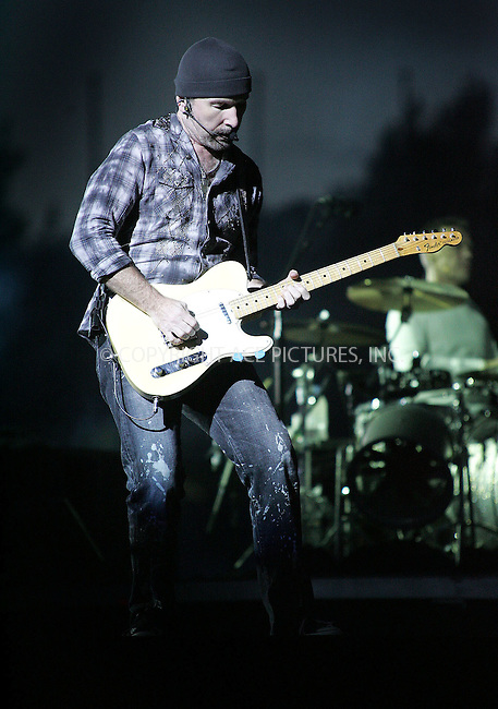 WWW.ACEPIXS.COM . . . . .  ..... . . . . US SALES ONLY . . . . .....August 20 2009, Sheffield....The Edge of U2 performing live at Don Valley Stadium in Sheffield on August 20 2009 in England......Please byline: FAMOUS-ACE PICTURES... . . . .  ....Ace Pictures, Inc:  ..tel: (212) 243 8787 or (646) 769 0430..e-mail: info@acepixs.com..web: http://www.acepixs.com