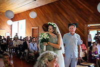 Justin and Maria's Wedding Ceremony in Salt Spring Island, a beautiful moment revealed through these images.