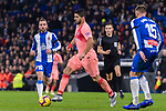 Luis Suarez of FC Barcelona (C) in action during the La Liga 2018-19 match between RDC Espanyol and FC Barcelona at Camp Nou on 08 December 2018 in Barcelona, Spain. Photo by Vicens Gimenez / Power Sport Images
