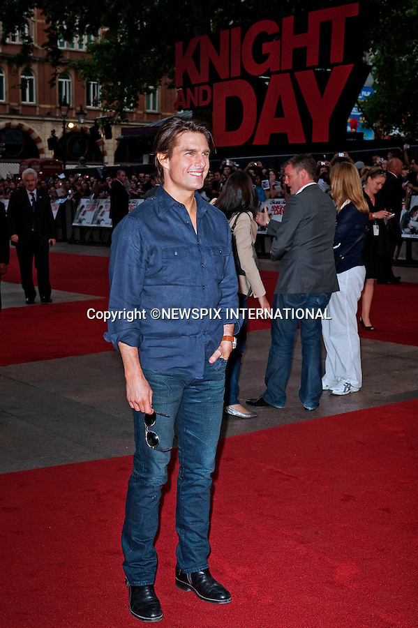 """TOM CRUISE.Attend the UK premiere of Knight and Day, London_England_22/07/2010..Mandatory Photo Credit: ©Dias/Newspix International..**ALL FEES PAYABLE TO: """"NEWSPIX INTERNATIONAL""""**..PHOTO CREDIT MANDATORY!!: NEWSPIX INTERNATIONAL(Failure to credit will incur a surcharge of 100% of reproduction fees)..IMMEDIATE CONFIRMATION OF USAGE REQUIRED:.Newspix International, 31 Chinnery Hill, Bishop's Stortford, ENGLAND CM23 3PS.Tel:+441279 324672  ; Fax: +441279656877.Mobile:  0777568 1153.e-mail: info@newspixinternational.co.uk"""