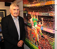 ÔSplit Second Ð Sport and  LandscapeÕ is an exhibition of paintings by Killarney artist Paul Downey,  that was officially opened by GAA legend Mick O'Dwyer,   at the Frank Lewis Gallery Killarney. The exhibition runs until October 5th. Picture: Eamonn Keogh (MacMonagle, Killarney)