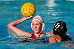 Manhattan Beach, CA 02/09/11 - unidentified Redondo Union player and Sara Crist (Mira Costa #11) in action during the final regular season game at Mira Costa High School, Mira Costa defeated Redondo 12-6 for a Bay League title.