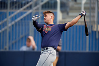 Alek Boychuk (22) during the Under Armour All-America Game Practice, powered by Baseball Factory, on July 21, 2019 at Les Miller Field in Chicago, Illinois.  Alek Boychuk attends Mill Creek High School in Buford, Georgia and is committed to the University of South Carolina.  (Mike Janes/Four Seam Images)