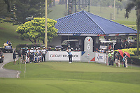 Paul Dunne (Europe) on the 6th tee during the Saturday Foursomes of the Eurasia Cup at Glenmarie Golf and Country Club on the 13th January 2018.<br /> Picture:  Thos Caffrey / www.golffile.ie