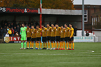 Remembrance ahead of Carshalton Athletic vs Boston United, Emirates FA Cup Football at the War Memorial Sports Ground on 9th November 2019