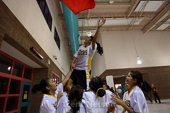 Whitehorse vs. Grand high school girls basketball. Whitehorse wins. 12.08.2005<br />