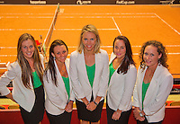 April 16, 2015, Netherlands, Den Bosch, Maaspoort, Fedcup Netherlands-Australia,  Australian team<br /> Photo: Tennisimages/Henk Koster