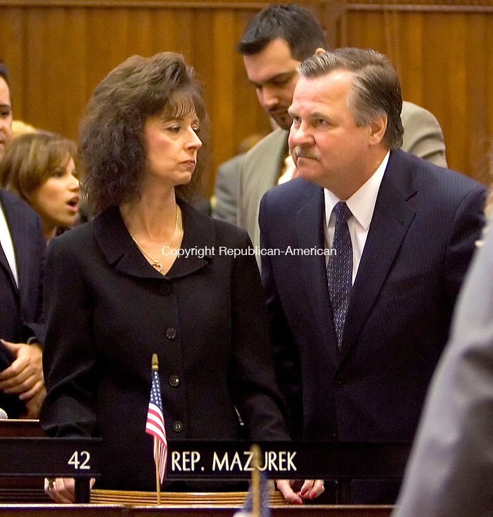 HARTFORD, CT- 03 JANUARY 07- 010307JT16-<br /> State Rep. John &quot;Corky&quot; Mazurek, D-Wolcott, on the opening day of the General Assembly's 2007 session at the Capitol in Hartford.<br /> Josalee Thrift Republican-American