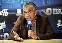 BOGOTA - COLOMBIA - 18 – 01 – 2018: Liber Vespa, Asistente Técnico de Deportivo Cali, durante rueda de prensa del Torneo Fox Sports 2018, en el estadio Nemesio Camacho El Campin de la ciudad de Bogota. /  Liber Vespa, Asistente Técnico of Deportivo Cali, during a press conference at the Fox Sports 2018 Tournament, at the Nemesio Camacho El Campin stadium in the city of Bogota. Photo: VizzorImage / Luis Ramirez / Staff.