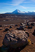 Looking over the Mangatoetoenui valley to Mt Ngauruhoe, Central Plateau, Tongariro National Park, North Island, New Zealand