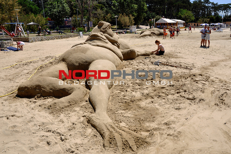 18.06.2015., Croatia, Island of  Rab, Lopar - On one of the most beautiful beaches of the world acording to CNN in Lopar is held Sand sculpture festival, Lopar 2015. The competition takes place in two categories, the first category in sculpture in the sand and 2nd in the photo category. The competition ends on Friday. <br /> Photo: Goran Novotny/HaloPix/PIXSELL