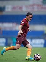 Calcio, Serie A: Roma vs Sampdoria. Roma, stadio Olimpico, 11 settembre 2016.<br /> Roma&rsquo;s Alessandro Florenzi in action during the Italian Serie A football match between Roma and Sampdoria at Rome's Olympic stadium, 11 September 2016. Roma won 3-2.<br /> UPDATE IMAGES PRESS/Isabella Bonotto
