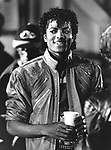 Michael Jackson 1983 during 'Beat It' filming..© Chris Walter.